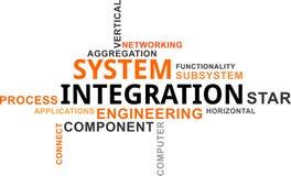 Word wolk - systeemintegratie Stock Foto