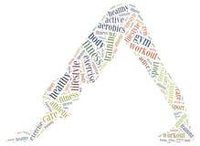 Word wolkenillustratie met betrekking tot fitness of sportactiviteit Stock Fotografie
