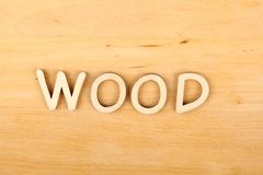 Word WOOD Royalty Free Stock Photography