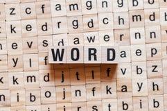 Word woordconcept royalty-vrije stock afbeeldingen