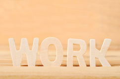 Word work wooden. Royalty Free Stock Photography