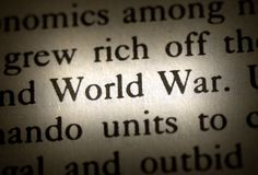 Word world war royalty free stock photo