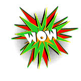 Word wow pop art Royalty Free Stock Photography