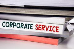 Word, writing Corporate Service. Business concept for Csr Digital Content written on the book on the white background. Word, writing Corporate Service. Business Stock Image