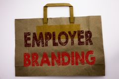 Free Word, Writing Employer Branding. Business Concept For Brand Building Written On Shopping Bag, White Isolated Background. Stock Image - 111332451