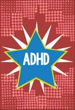 Word writing text Adhd. Business concept for Mental health disorder of children Hyperactive Trouble paying attention.  vector illustration