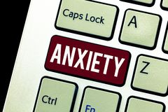 Word writing text Anxiety. Business concept for Excessive uneasiness and apprehension Panic attack syndrome.  stock photos