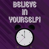 Word writing text Believe In Yourself. Business concept for Determination Positivity Courage Trust Faith Belief. Word writing text Believe In Yourself. Business vector illustration