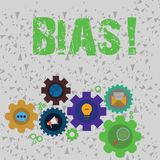 Word writing text Bias. Business concept for inclination or prejudice for or against one demonstrating group Set of. Word writing text Bias. Business photo stock illustration
