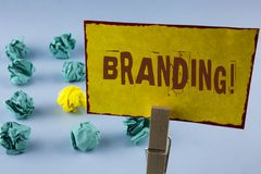 Word writing text Branding Motivational Call. Business concept for Creating a unique identity for new startup agencies written on. Word writing text Branding Stock Photo