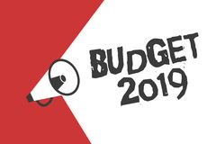 Word writing text Budget 2019. Business concept for New year estimate of incomes and expenses Financial Plan.  royalty free illustration