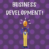 Word writing text Business Development. Business concept for Develop and Implement Organization Growth Opportunities. Word writing text Business Development stock illustration