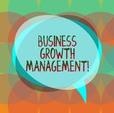 Word writing text Business Growth Management. Business concept for boosting the top line or revenue of the business Blank Speech royalty free stock photos