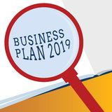 Word writing text Business Plan 2019. Business concept for Challenging Business Ideas and Goals for New Year.  vector illustration