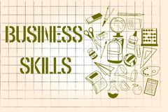 Word writing text Business Skills. Business concept for An ability to acquire systematic effort of job functions.  Stock Illustration