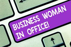 Word writing text Business Woanalysis In Office. Business concept for Female power Feminine empowerment Leader women. Keyboard key Intention to create computer royalty free stock photo