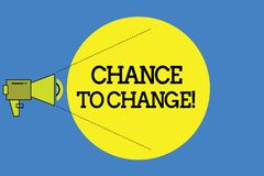 Word writing text Chance To Change. Business concept for The opportunity for transformation New Business Ideas.  vector illustration