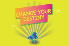 Word writing text Change Your Destiny. Business concept for Rewriting Aiming Improving Start a Different Future royalty free illustration