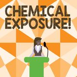 Word writing text Chemical Exposure. Business concept for Touching, breathing, eating or drinking harmful chemicals vector illustration