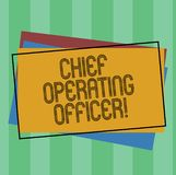 Word writing text Chief Operating Officer. Business concept for responsible for the daily operation of the company Pile. Of Blank Rectangular Outlined Different stock illustration
