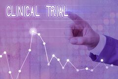 Free Word Writing Text Clinical Trial. Business Concept For Trials To Evaluate The Effectiveness And Safety Of Medication Stock Image - 172366671