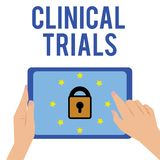 Word writing text Clinical Trials. Business concept for Research investigation to new treatments to showing.  vector illustration