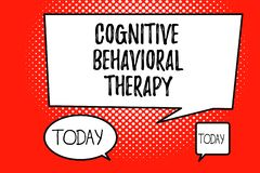 Word writing text Cognitive Behavioral Therapy. Business concept for Psychological treatment for mental disorders.  stock illustration
