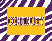 Word writing text Continuity. Business concept for Unbroken consistent existence operation of something over time.  royalty free stock images