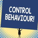 Word writing text Control Behaviour. Business concept for Exercise of influence and authority over huanalysis conduct. Word writing text Control Behaviour vector illustration