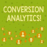 Word writing text Conversion Analytics. Business concept for action that s is counted when someone interacts with ad stock photo