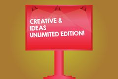 Free Word Writing Text Creative And Ideas Unlimited Edition. Business Concept For Bright Thinking Limitless Creativity Blank Lamp Royalty Free Stock Image - 136526886