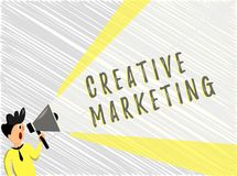 Word writing text Creative Marketing. Business concept for Campaigning to meet the advertising requirements.  stock illustration