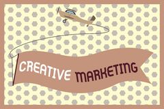Word writing text Creative Marketing. Business concept for Campaigning to meet the advertising requirements.  royalty free illustration
