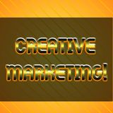 Word writing text Creative Marketing. Business concept for Campaigning to meet the advertising requirements Infinite. Word writing text Creative Marketing vector illustration
