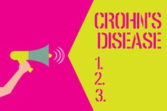 Word writing text Crohn s is Disease. Business concept for inflammatory disease of the gastrointestinal tract.  stock illustration