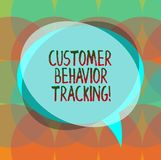 Word writing text Customer Behavior Tracking. Business concept for Action that a user takes related to your company. Blank Speech Bubble photo and Stack of royalty free illustration