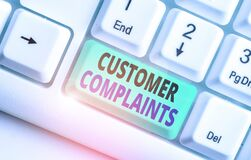 Free Word Writing Text Customer Complaints. Business Concept For Expression Of Dissatisfaction On A Consumer S Is Behalf. Stock Image - 168985701