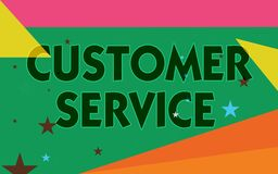 Word writing text Customer Service. Business concept for process of ensuring client satisfaction with product.  stock illustration