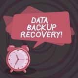 Word writing text Data Backup Recovery. Business concept for the process of backing up data in case of a loss Blank Rectangular stock illustration