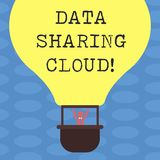 Word writing text Data Sharing Cloud. Business concept for using internet technologies to share files between users Hu. Analysis Dummy Arms Raising inside stock illustration