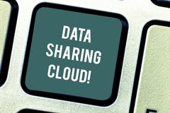 Word writing text Data Sharing Cloud. Business concept for using internet technologies to share files between users stock images