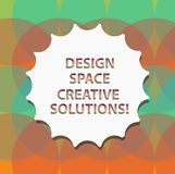 Word writing text Design Space Creative Solutions. Business concept for Creativity innovative ideas inventions Blank vector illustration