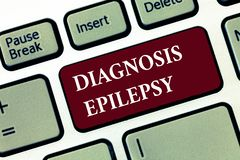 Word writing text Diagnosis Epilepsy. Business concept for disorder in which brain activity becomes abnormal.  royalty free stock photo