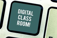 Word writing text Digital Class Room. Business concept for where student learning and interaction with instructor stock images
