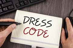 Word writing text Dress Code. Business concept for Rules of what you can wear and not to school or an event. Words writing texts Dress Code. Business concept for stock photo