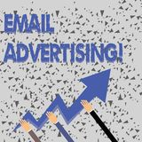 Word writing text Email Advertising. Business concept for act of sending a commercial message to target market Three. Word writing text Email Advertising vector illustration