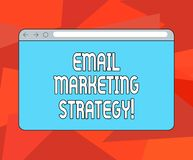 Word Writing Text Email Marketing Strategy Business Concept For