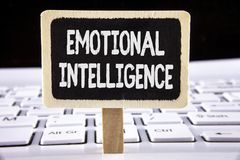 Word writing text Emotional Intelligence. Business concept for Capacity to control and be aware of personal emotions written on Wo. Word writing text Emotional stock photos