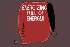 Word writing text Energizing Full Of Energy. Business concept for Focused energized full of power motivated Blank Color