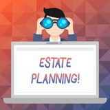 Word writing text Estate Planning. Business concept for Insurance Investment Retirement Plan Mortgage Properties. Word writing text Estate Planning. Business royalty free illustration